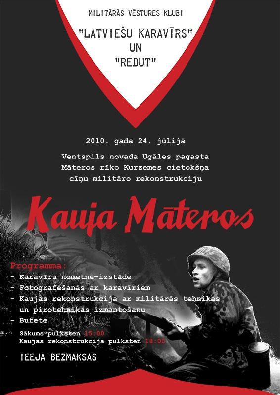 """Starptautisks militārās vēstures pasākums """"Kauja Māteros"""", 24.07.2010. Kauja_Materos_1"""